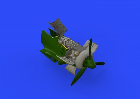 Fw 190A-4 двигатель и фюзеляжные пулемёты 1/48  - 2