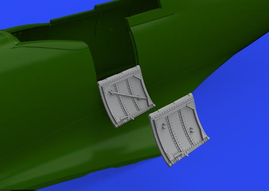 Spitfire Mk.VIII / IX dvířka kokpitu 1/48  - 2