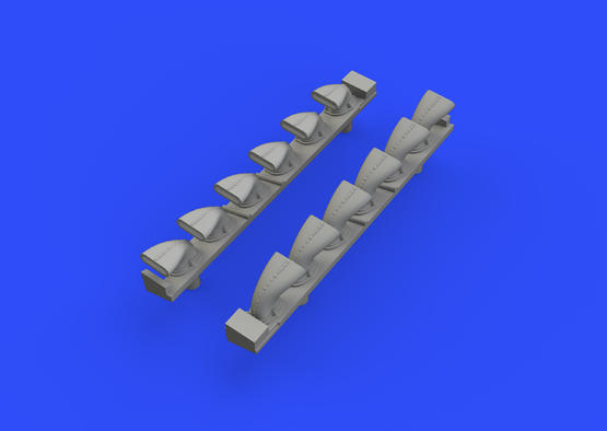 Bf 109G-6 exhaust stacks 1/48  - 2