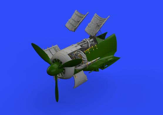 Fw 190A-5 двигатель и фюзеляжное вооружение 1/48  - 2