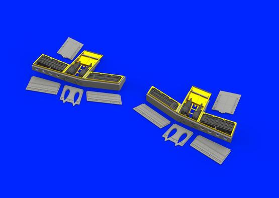 Tempest Mk.V пулемётные отсеки 1/48  - 2