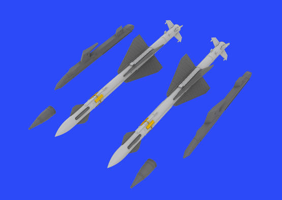 R-23R missiles for MiG-23 1/48  - 2