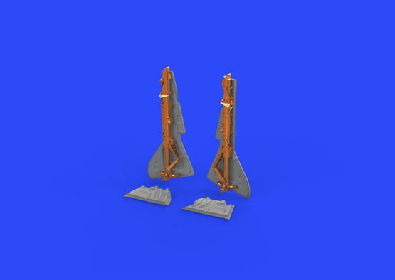 Fw 190A-5 undercarriage legs BRONZE 1/48  - 2