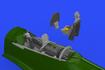 P-51D-5 コクピット 1/48 - 2/3