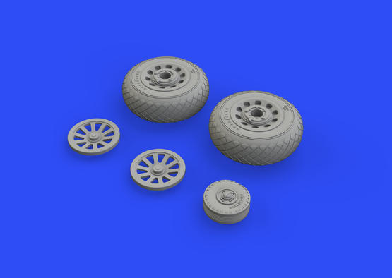 P-51D wheels diamond tread 1/48  - 2