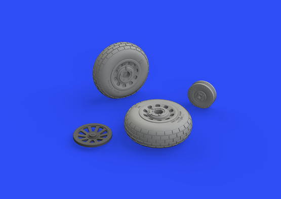 P-51D wheels block tread 1/48  - 2