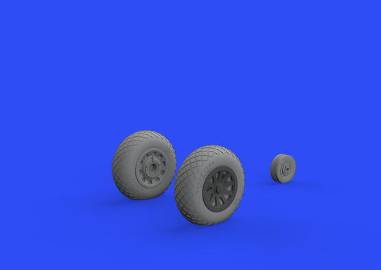 P-51D wheels diamond tread 2 1/48  - 2
