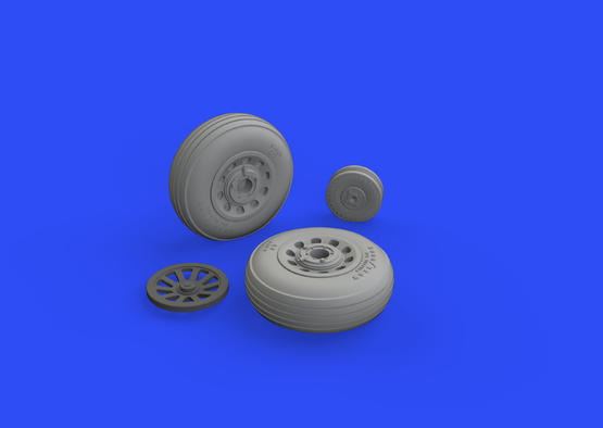 P-51D wheels grooved 1/48  - 2