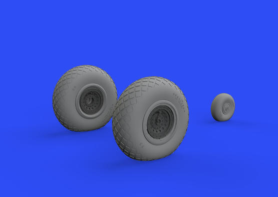 B-17 wheels 1/48  - 2