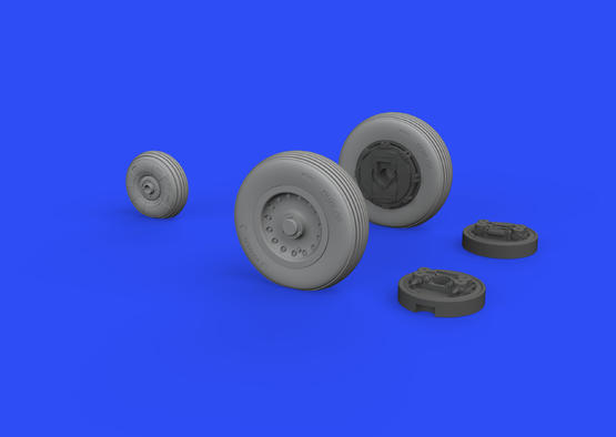 Mirage IIIC wheels 1/48  - 2