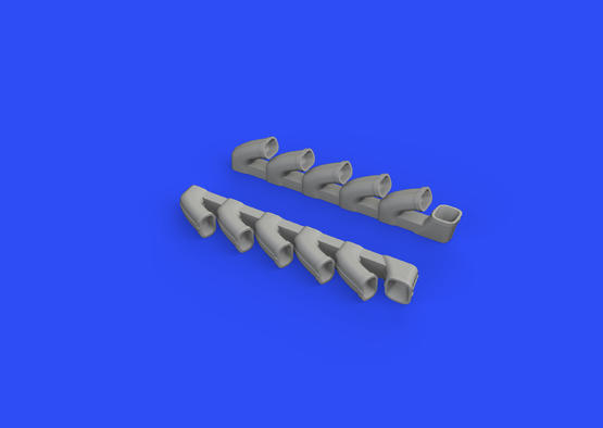 Il-2 exhaust stacks 1/48  - 2