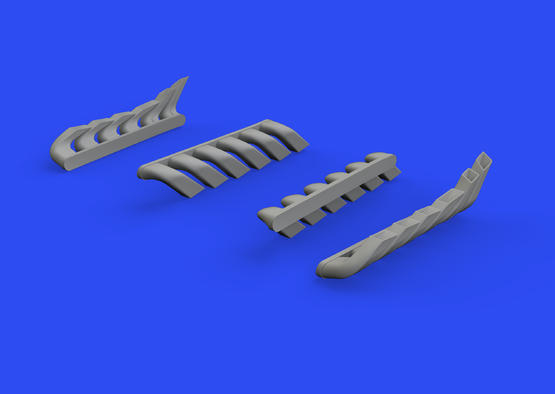 Bf 110C/D/E exhaust stacks 1/48  - 2