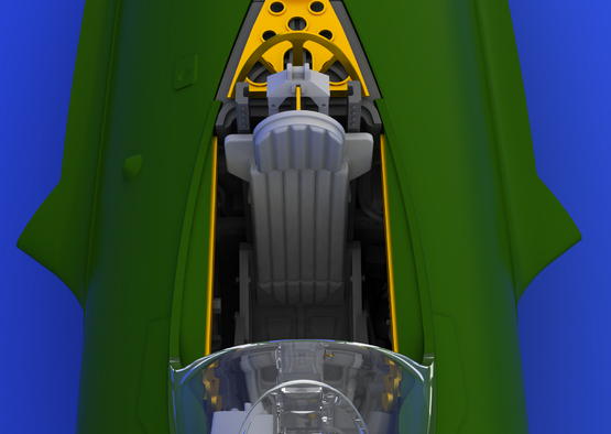 MiG-15 cockpit 1/72  - 2