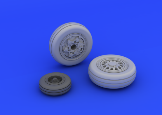F-16CJ Block 50 wheels 1/72  - 2