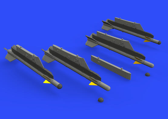 R-3S missiles w/ pylons for MiG-21 1/72  - 2