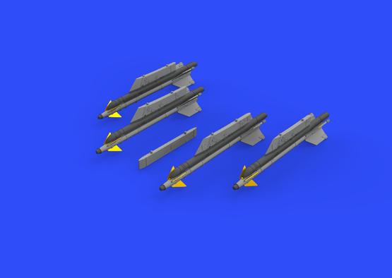 R-13M rakety s pylony pro MiG-21 1/72  - 2