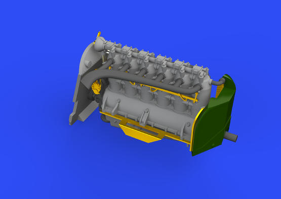 Fokker D.VII (OAW) двигатель/Mercedes D.III 1/72  - 2