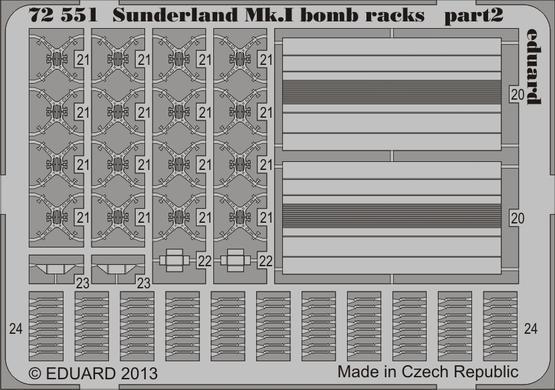 Sunderland Mk.I bomb racks 1/72  - 2