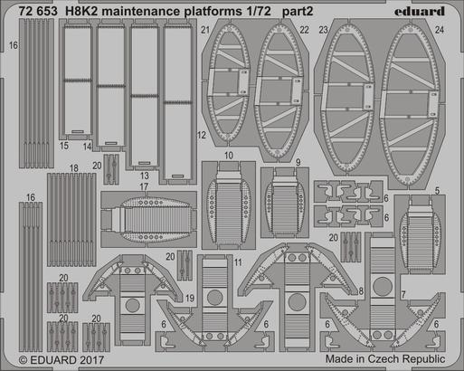 H8K2 maintenance platforms 1/72  - 2