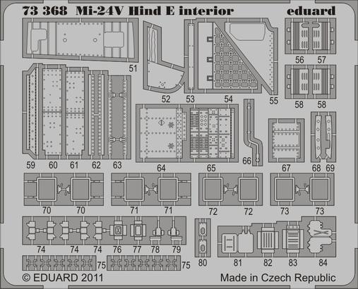 Mi-24V Hind E interior S.A. 1/72  - 2