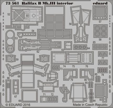 Halifax B Mk.III interior 1/72  - 2