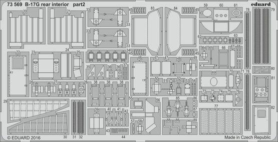 B-17G rear interior 1/72  - 2