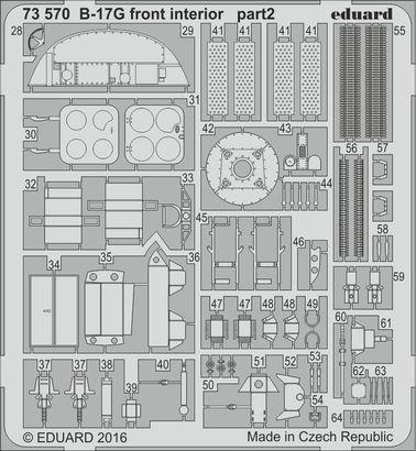 B-17G front interior 1/72  - 2