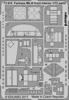Fortress Mk.III přední interiér 1/72  - 2