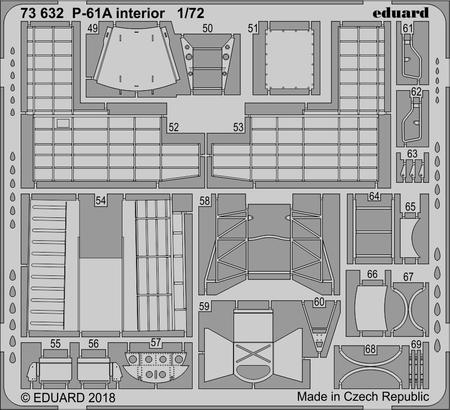 P-61A интерьер 1/72  - 2