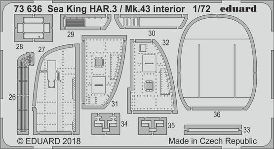 Sea King HAR.3 / Mk.43 interiér 1/72  - 2