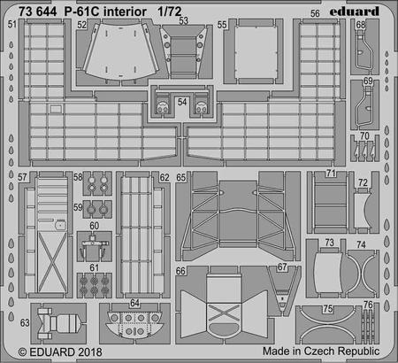 P-61C interior 1/72  - 2