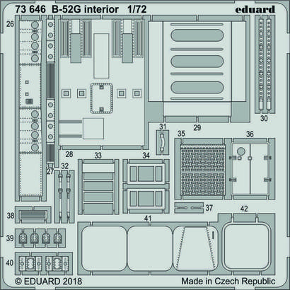 B-52G интерьер 1/72  - 2