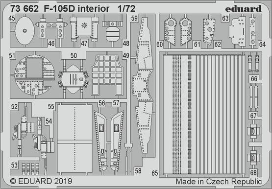 F-105D interiér 1/72  - 2