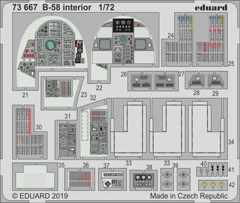 B-58 интерьер 1/72  - 2
