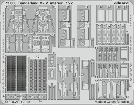 Sunderland Mk.V интерьер 1/72  - 2