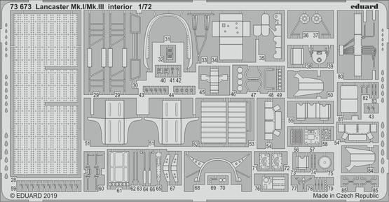 Lancaster Mk.I/Mk.III interiér 1/72  - 2