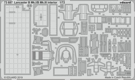 Lancaster B Mk.I/B Mk.III interiér 1/72  - 2