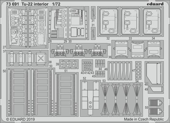 Tu-22 interior 1/72  - 2