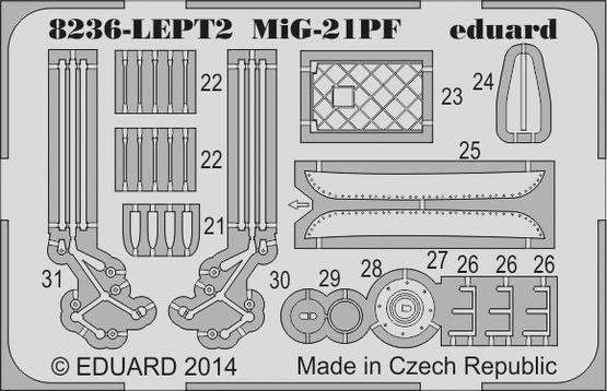 MiG-21PF PE-set 1/48  - 2