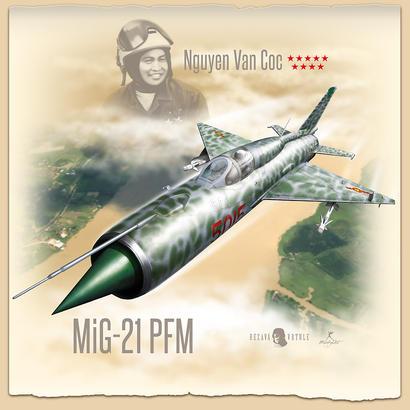 MiG-21PFM +T-Shirt (L) 1/48  - 2