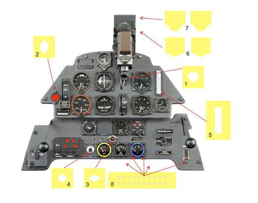 Bf 109E Instrument Panel Mask 1/4  - 2