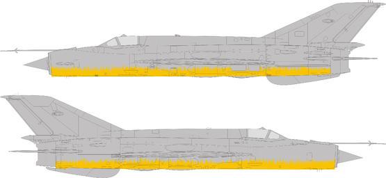 MiG-21 Bunny Fighter maska trávy 1/48  - 2