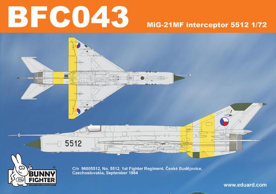 MiG-21MF interceptor 5512 1/72  - 2