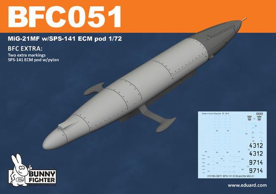MiG-21MF w/SPS-141 ECM pod 1/72  - 2
