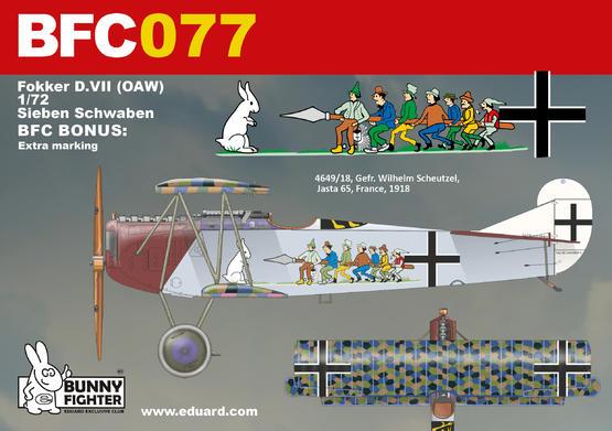 Fokker D.VII (OAW) Sieben Schwaben 1/72  - 2