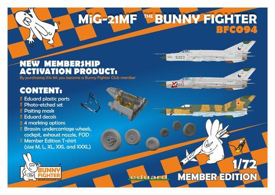 MiG-21MF Bunny Fighter + T-shirt L 1/72  - 2