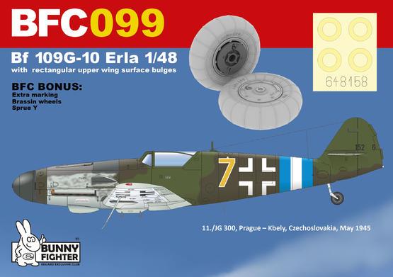 Bf 109G-10 Erla s velkými boulemi na horní ploše křídla 1/48  - 2