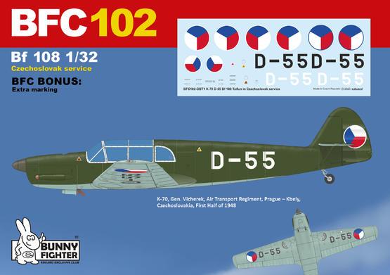 K-70 D-55 Bf 108 in Czechoslovak service 1/32  - 2