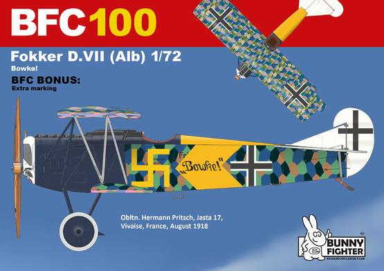 フォッカー D.VII Bowke! 1/72  - 2