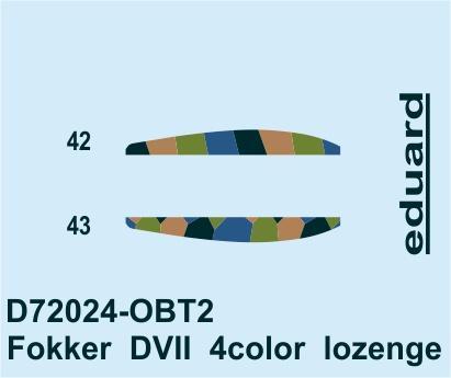 Fokker D.VII 4color lozenge 1/72  - 2